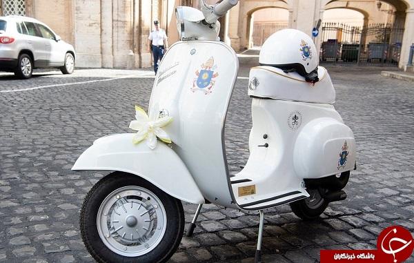 هدیه بچه گانه ای که پاپ فرانسیس دریافت کرد +تصاویر