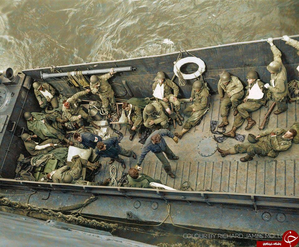 تصاویر رنگی دیده نشده از جنگ جهانی دوم///