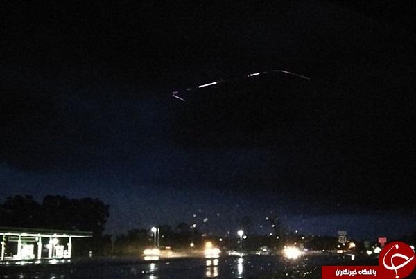 پرواز شی پرنده مشکوک در آسمان کارولینا +عکس
