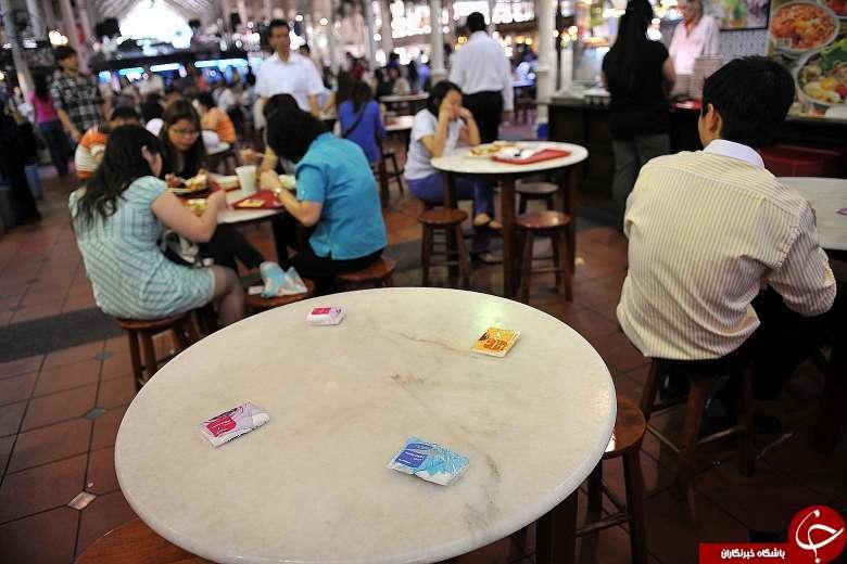 عجیب ترین شیوه رزرو کردن میز در سنگاپور