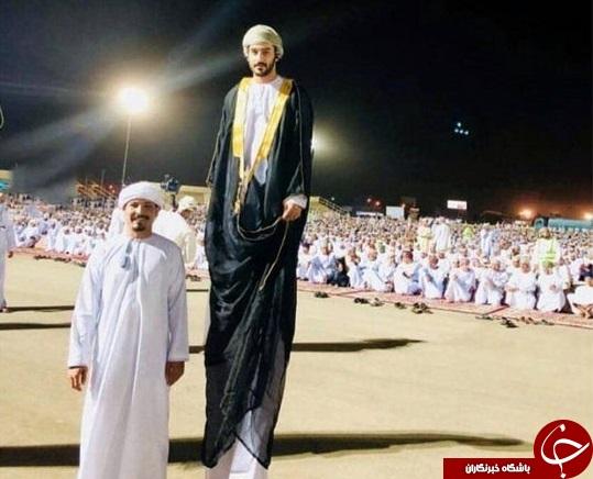 عکس باورنکردنی از قد بلندترین مرد جهان در مراسم حج +عکس