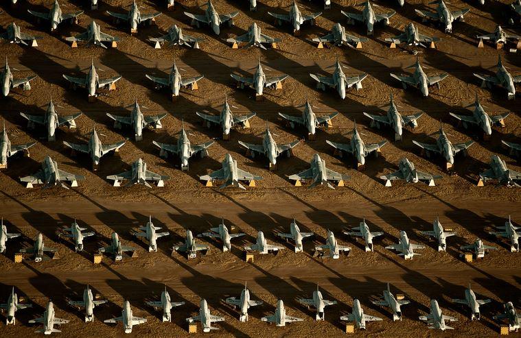 گورستان «دیویس- مونتهن»، استراحتگاه بیش از ۵۰۰۰ هواپیما+تصاویر