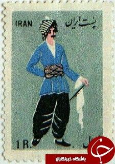 مجموعهای از تمبرهای قدیمی با
