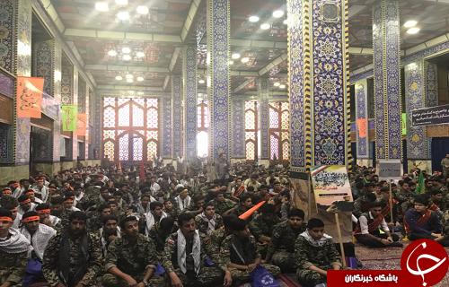 گردهمایی بسیجیان ناحیه مرکزی ثارالله و روح الله یزد در پایگاه انقلاب