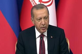شعر فارسی که اردوغان در نشست خبری سه جانبه خواند + فیلم