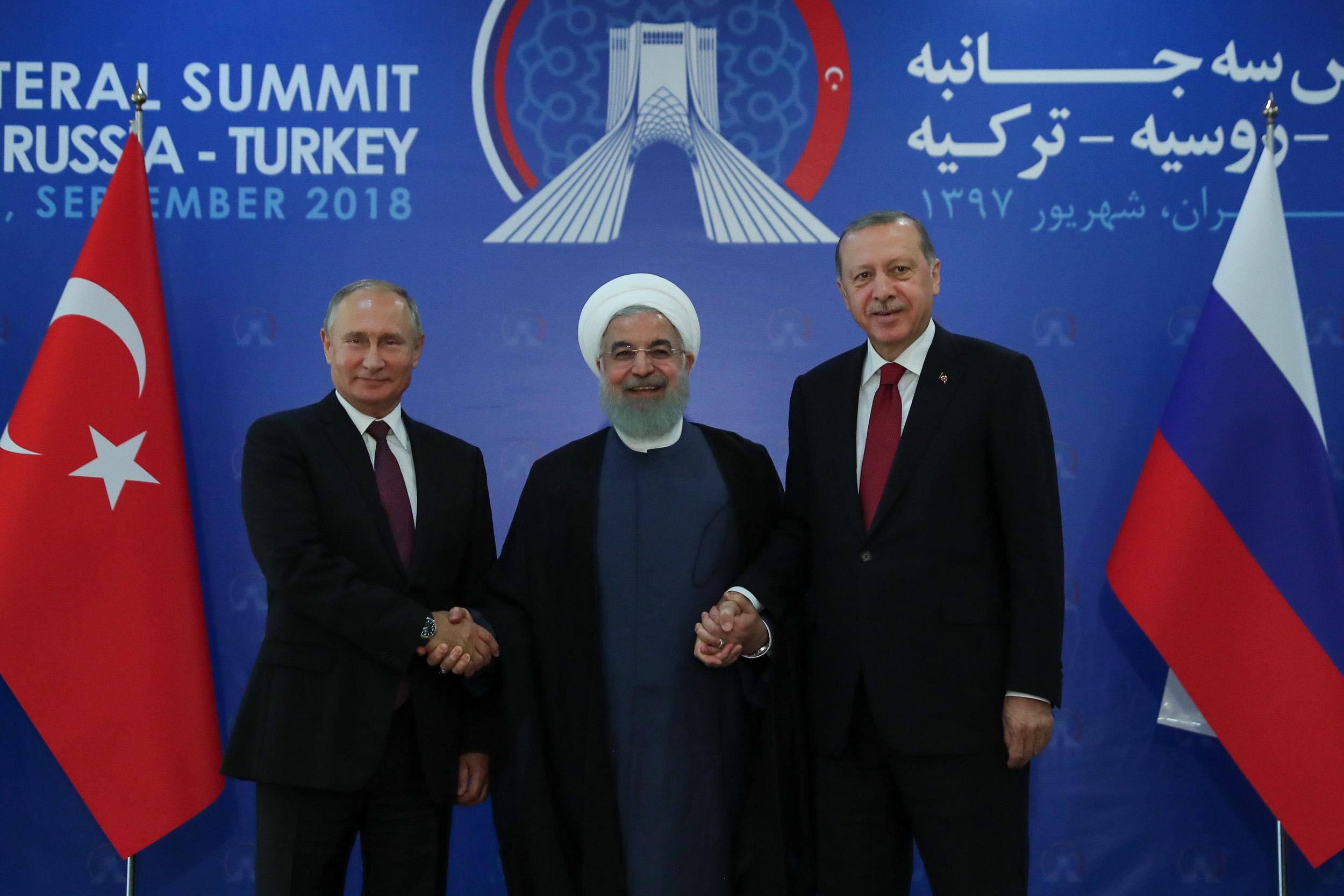 اجلاس روسای جمهور ایران، روسیه و ترکیه درباره سوریه آغاز شد