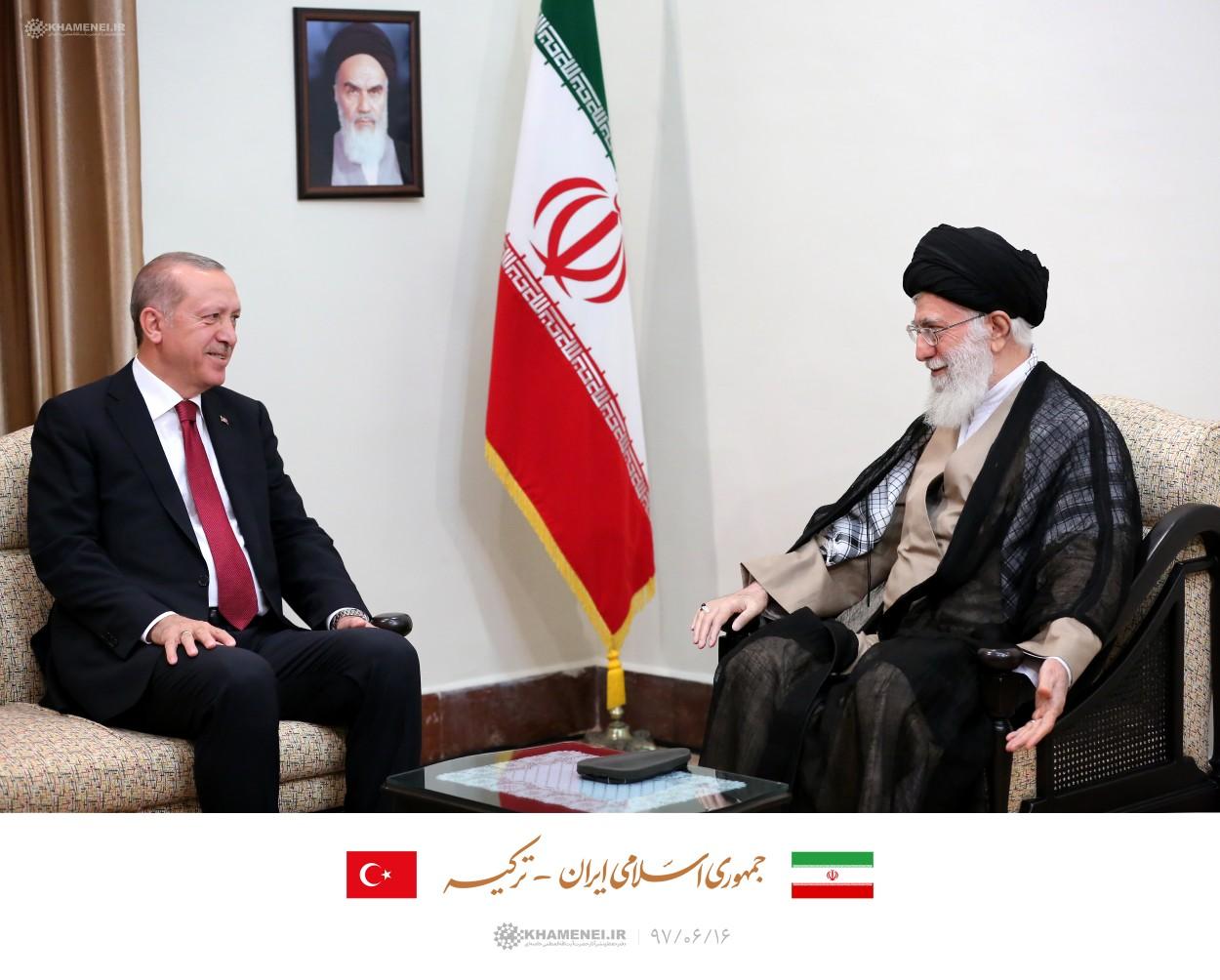 رئیس جمهور ترکیه با رهبر انقلاب دیدار کرد