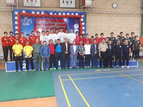 تیم فارس قهرمان مسابقات بدمینتون قهرمانی نوجوانان پسران کشور شد