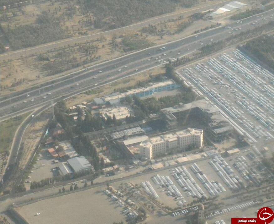 پارکینگ ایران خودرو را از درون هواپیما ببینید