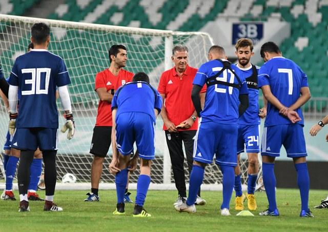 آخرین تمرین ملی پوشان فوتبال ایران پیش از دیدار برابر ازبکستان برگزار شد