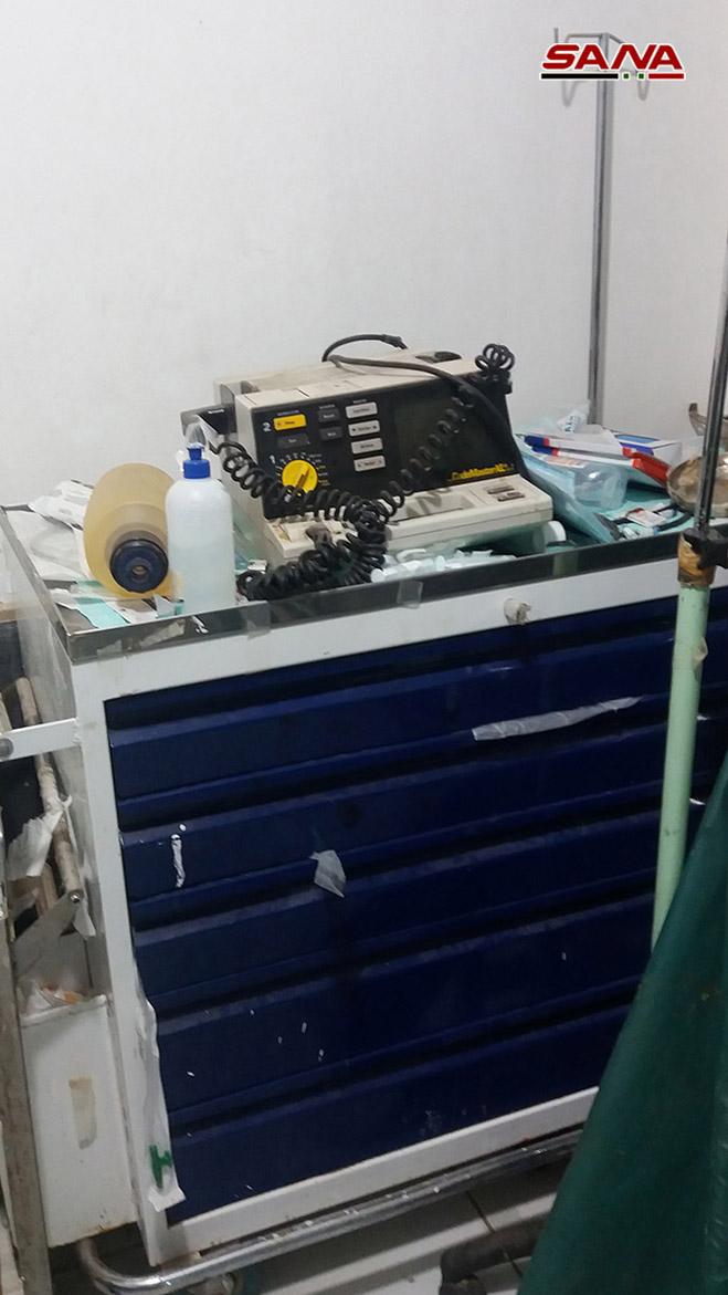 کشف یک بیمارستان صحرایی مجهز متعلق به تروریستها در جنوب سوریه+ تصاویر
