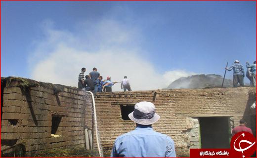 بازی کودکانه یک روستا را به آتش کشید + تصاویر