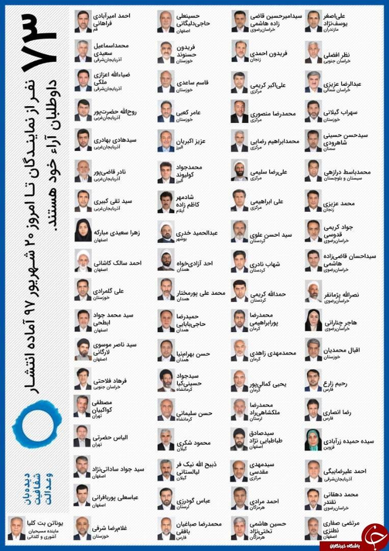 کدام نمایندگان مجلس برای کمپین شفافیت آراء اعلام آمادگی کردند+ اسامی