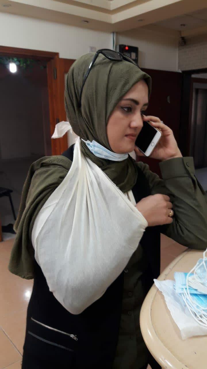 مجروح شدن خبرنگار العالم در نوار غزه