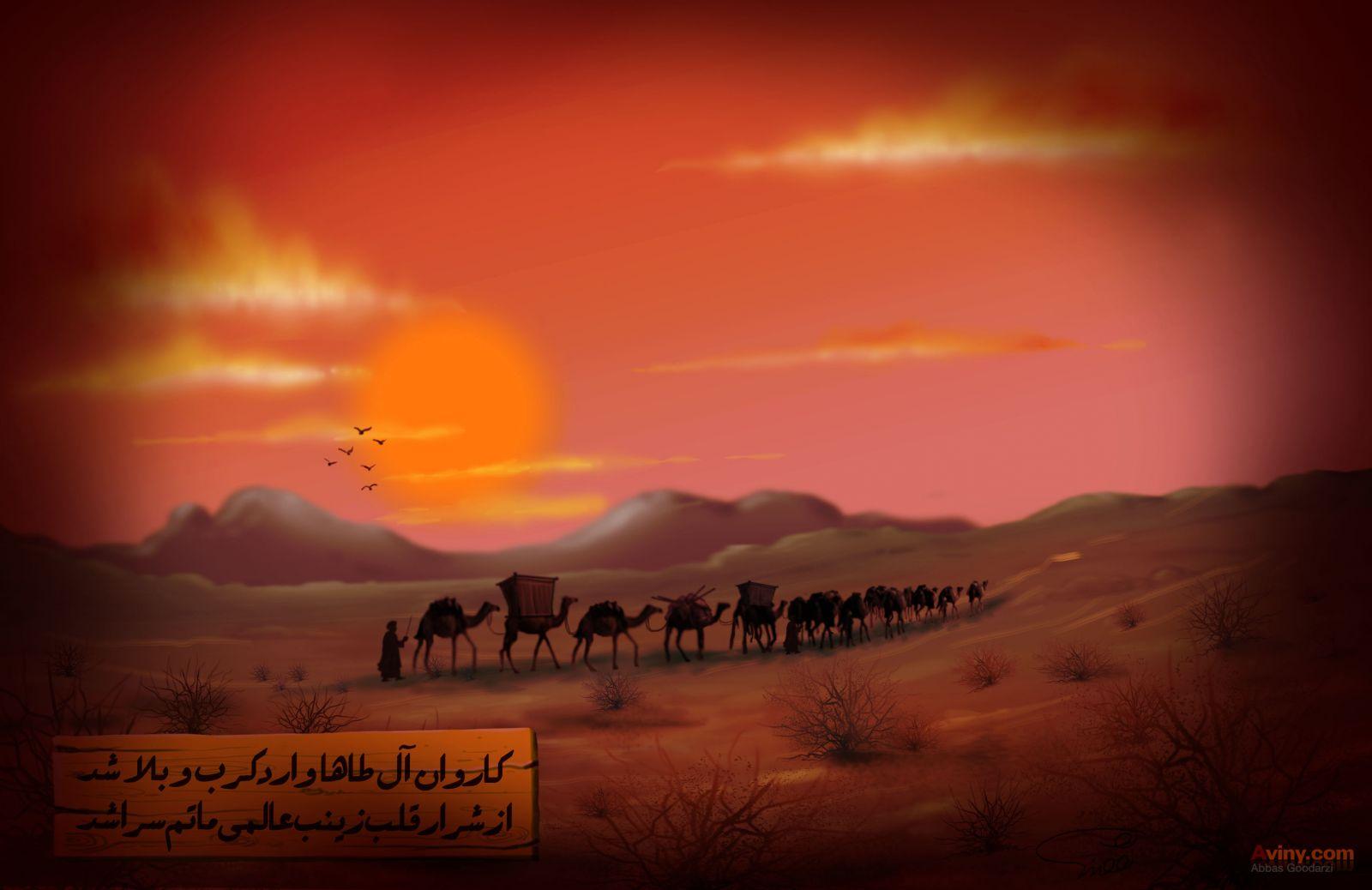 از ورود کاروان امام حسین (ع) به کربلا تا سرزمینی با ۷ نام و اسب هایی که دیگر تان رفتن نداشتند!+فیلم