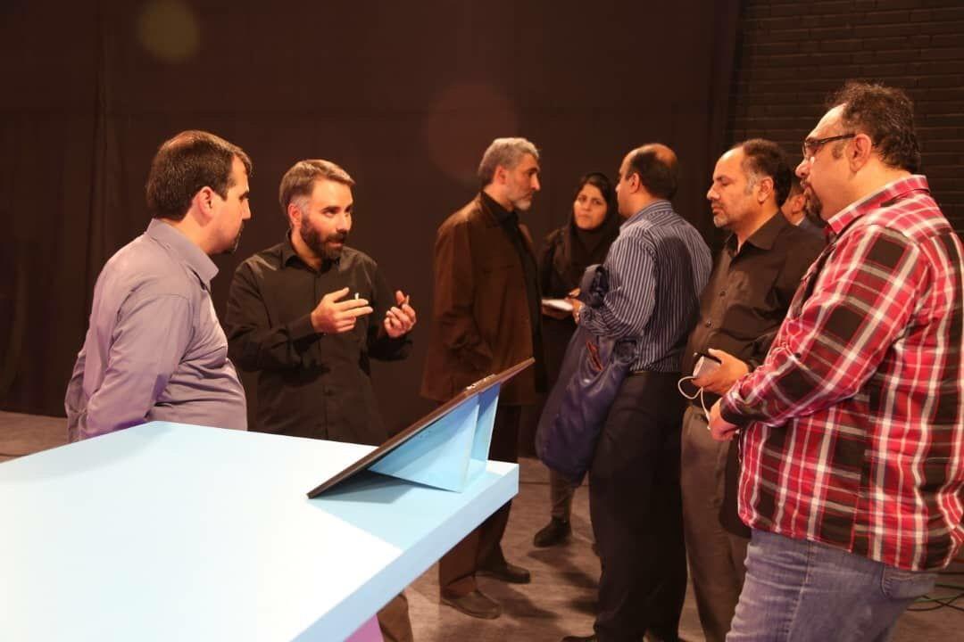 بازدید مدیر شبکه نسیم از پشت صحنه «هوش برتر»