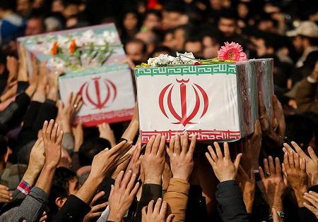 تشییع پیکرهای پاک 135 شهید گمنام از مقابل دانشگاه تهران تا معراج شــهدا