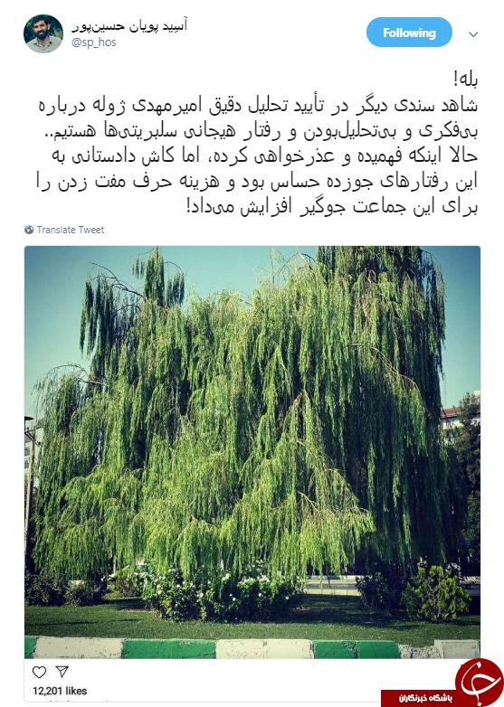 عذرخواهی آناهیتا همتی به خاطر حمایتش از یک تروریست +عکس