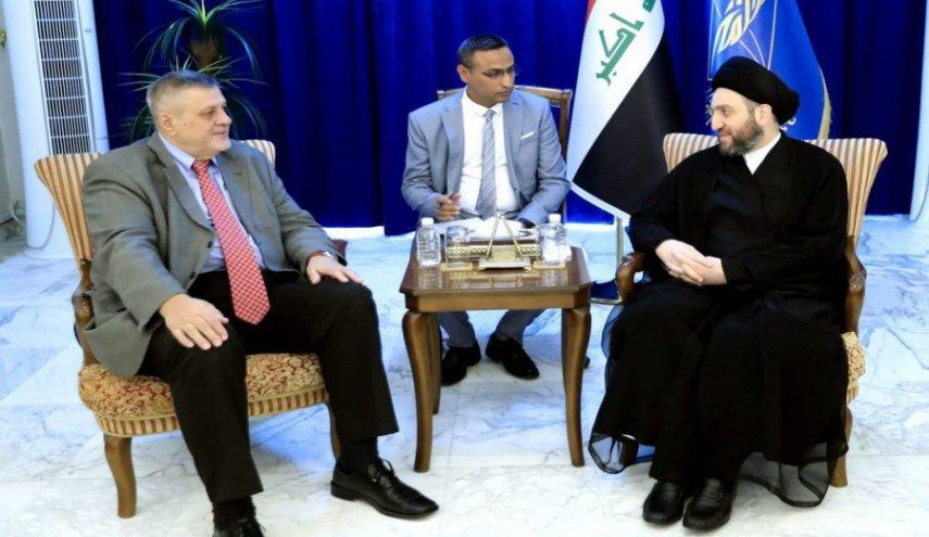 عمار حکیم: توصیه آیت الله سیستانی نقشه راه مرحله کنونی عراق است