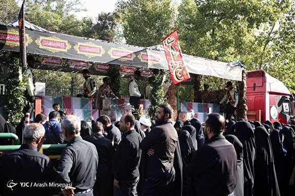 وداع با 135 شهید گلگون کفن در ایام سوگواری سیدالشهدا (ع)