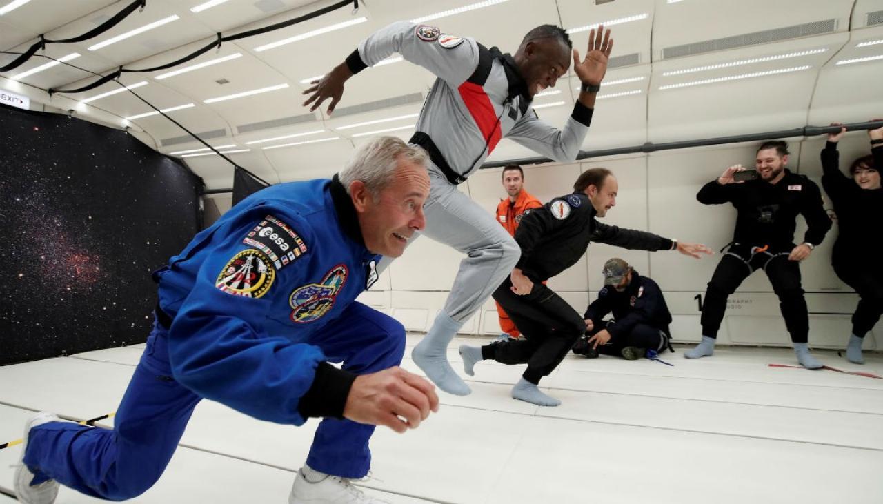 اوسین بولت فضانورد شد!+عکس