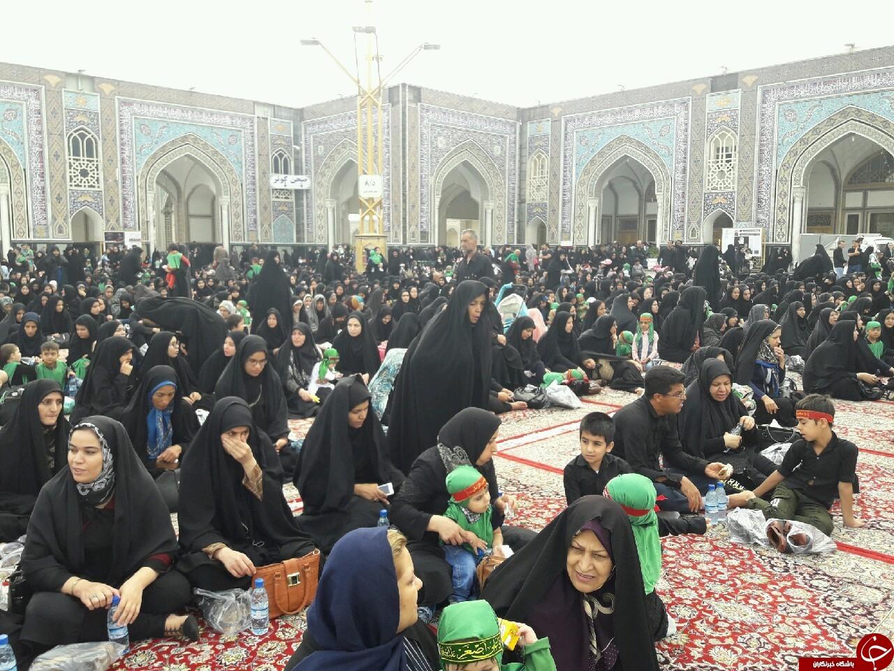 باشکوهترین محفل شیرخوارگان حسینی در حرم مطهر رضوی آغاز شد+تصاویر