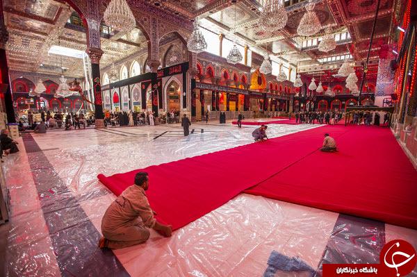 تصاویری ناب از حال و هوای حرم مطهر امام حسین(ع) در ایام محرم+عکس