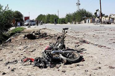 انفجار یک دستگاه موتورسیکلت در شهر القائم عراق
