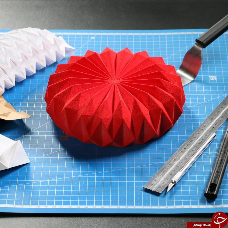 کیکهای هندسی با الهام از ریاضیات و هنرهای ترسیمی