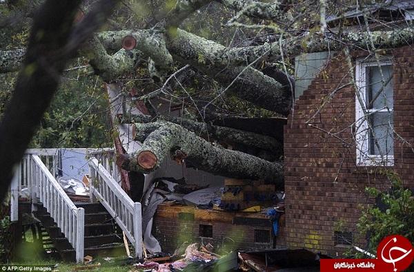 تصاویری از قویترین طوفان شرق ایالات متحده
