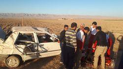 امداد رسانی به مصدومین حادثه واژگونی پرایددر قوچان