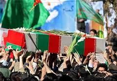 تشییع پیکر مطهر شهید تازه تفحص شده در بجنورد