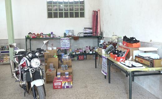 بازدید فرماندهی انتظامی استان قم از کالاهای قاچاق مکشوفه