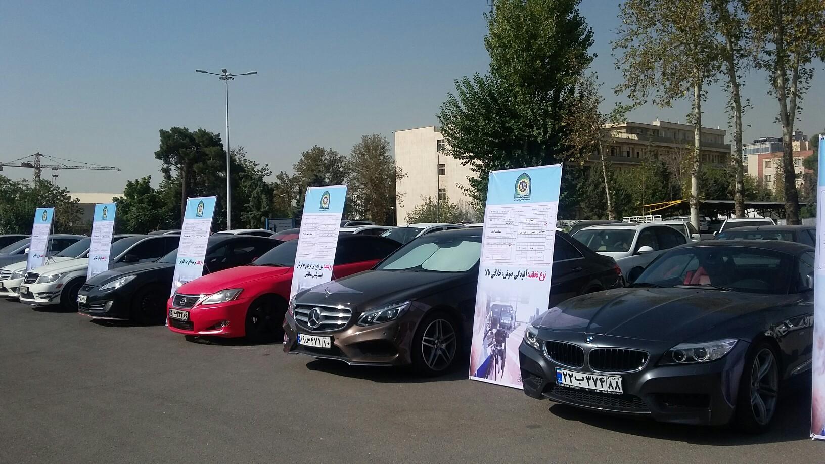 توقیف 55 خودروی بچه پولدارها به علت دور دور در 48 ساعت گذشته + عکس