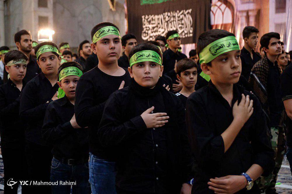 گرامیداشت مقام حضرت قاسم بن الحسن (ع) با حضور پرشور نوجوانان حسینی