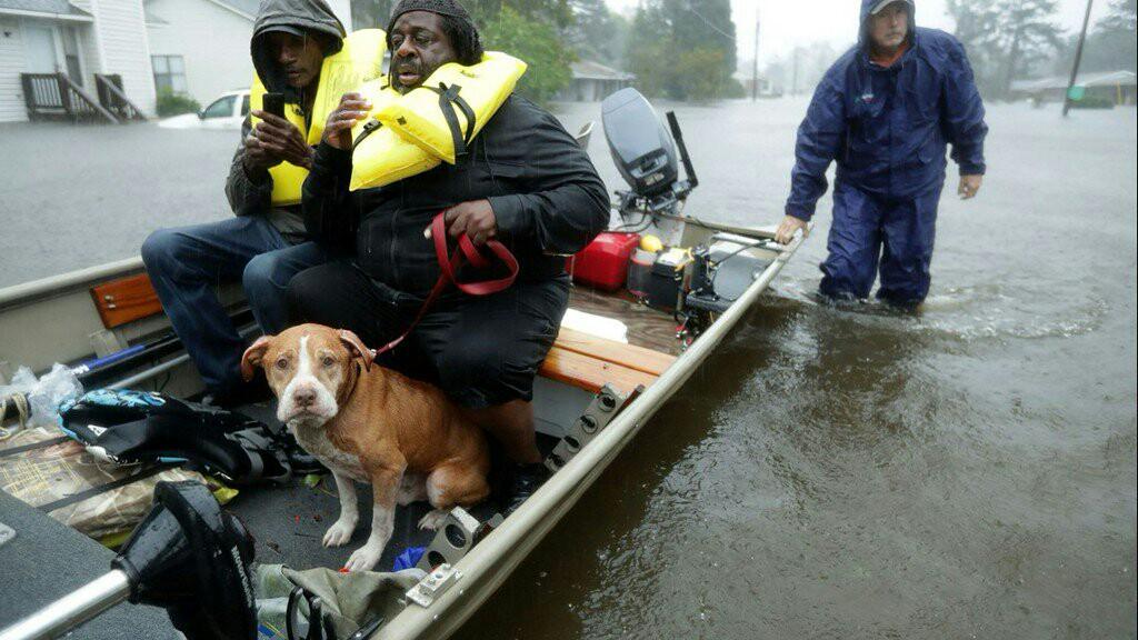 توفان سهمگین فلورنس در آمریکا به روایت تصویر