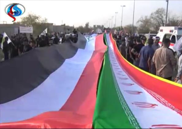 راهپیمایی مردم بصره در حمایت از ایران+ تصاویر