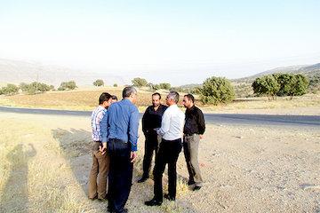 بازدید از پروژه های راهسازی در سیروان