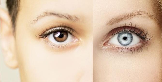 چگونه چشمان قهوه ای را آبی کنیم؟