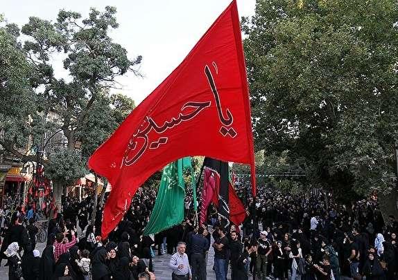 باشگاه خبرنگاران - استقبال پرشکوه از پرچم سرخ و ملکوتی امام حسین (ع) در همدان
