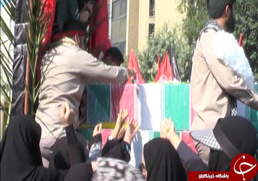 عطر گل محمدی در فارس پیچید/تشییع شهدای گمنام در فارس + فیلم و تصاویر