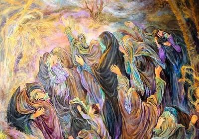 تصاویری از بازنمایی واقعه عاشورا در آثار هنرمندان ایرانی و خارجی