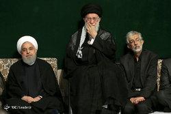 مراسم عزاداری شب تاسوعای حسینی با حضور رهبر معظم انقلاب