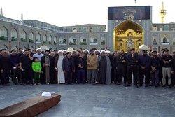 پیکر طلبه مشهدی تشییع شد