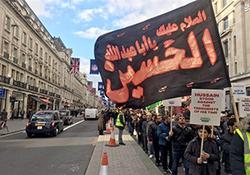 حمله به مراسم عزاداری حسینی در لندن + فیلم