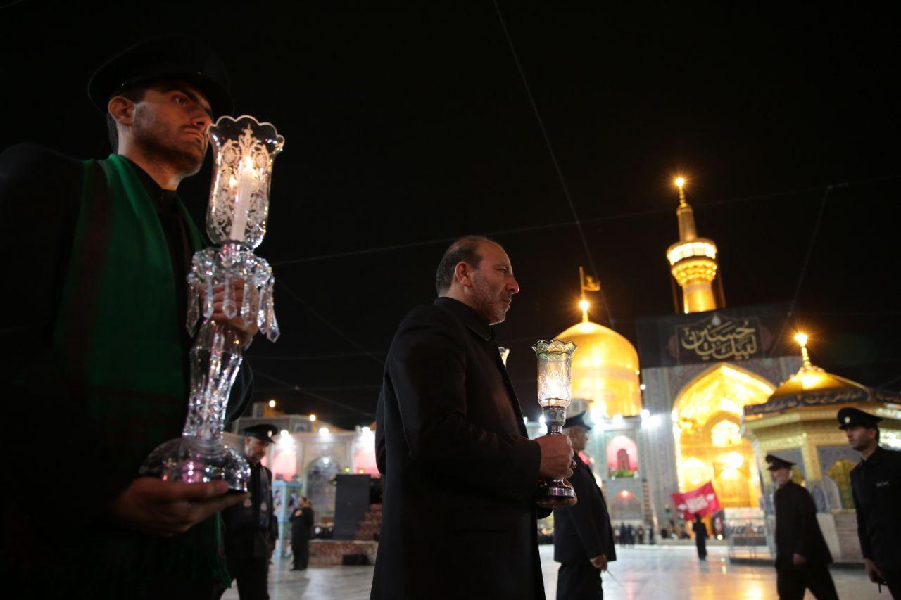 برگزاری آیین سنتی خطبهخوانی شب عاشورا در حرم مطهر رضوی