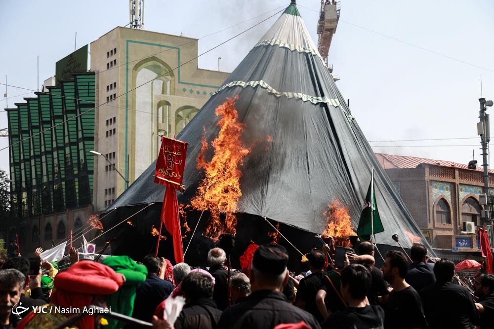 عزاداری ظهر عاشورا در بازار تهران
