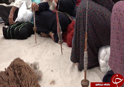 گره کور در بافت فرش ترکمن / مواد اولیه فرش بافی در گلستان به هدر میرود