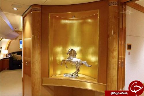 هواپیمای لوکس طلایی برای امیر قطر خسته کننده شد +تصاویر