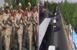 لحظه حمله تروریستی از دوربین سیمای خوزستان در حال پخش مستقیم مراسم + فیلم